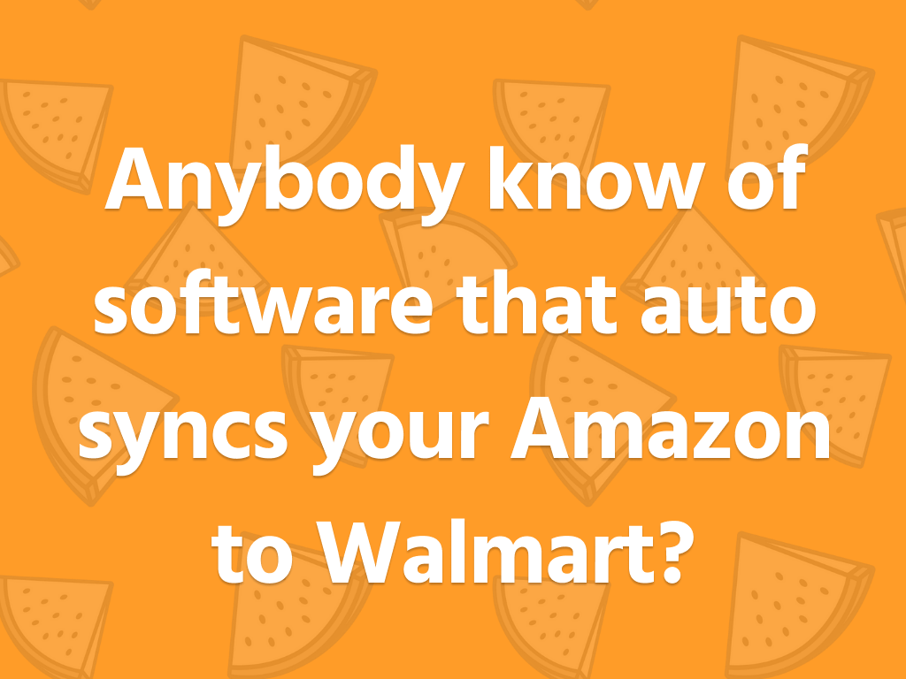 Synchronization with walmart